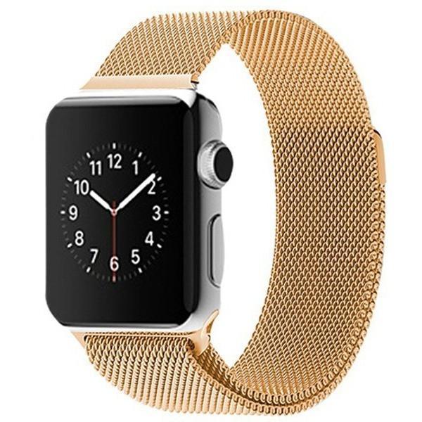 gold milanese loop apple watch band watchbands online